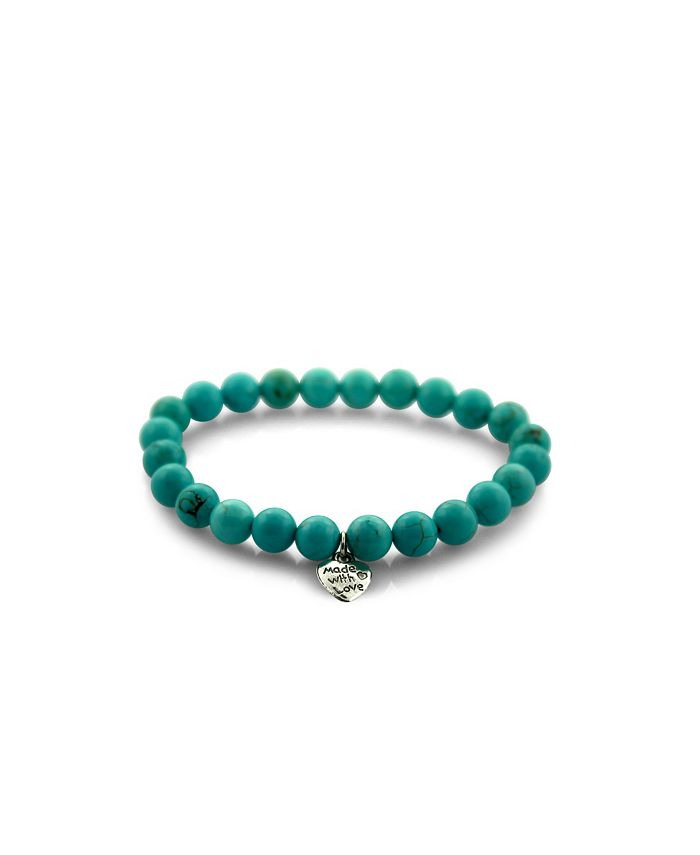 Macy's - Beaded Stretch Bracelet Turquoise