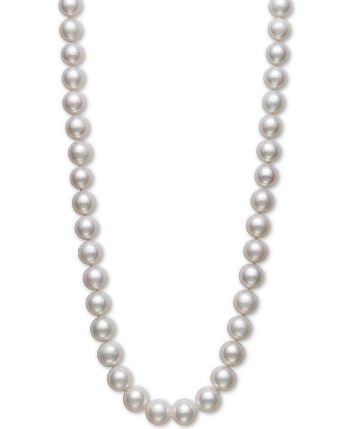 Belle de Mer - Cultured Freshwater Pearl Strand Necklace (10-1/2-11-1/2mm) in 14k Gold