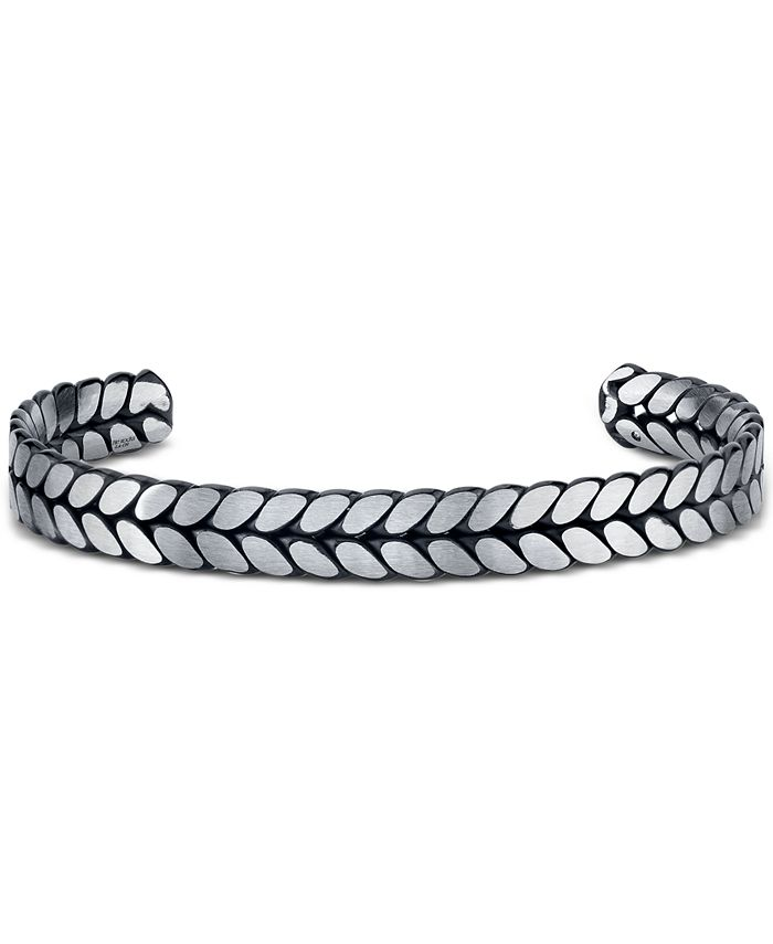 He Rocks - Chain Design Cuff Bracelet In Stainless Steel, 8.5""