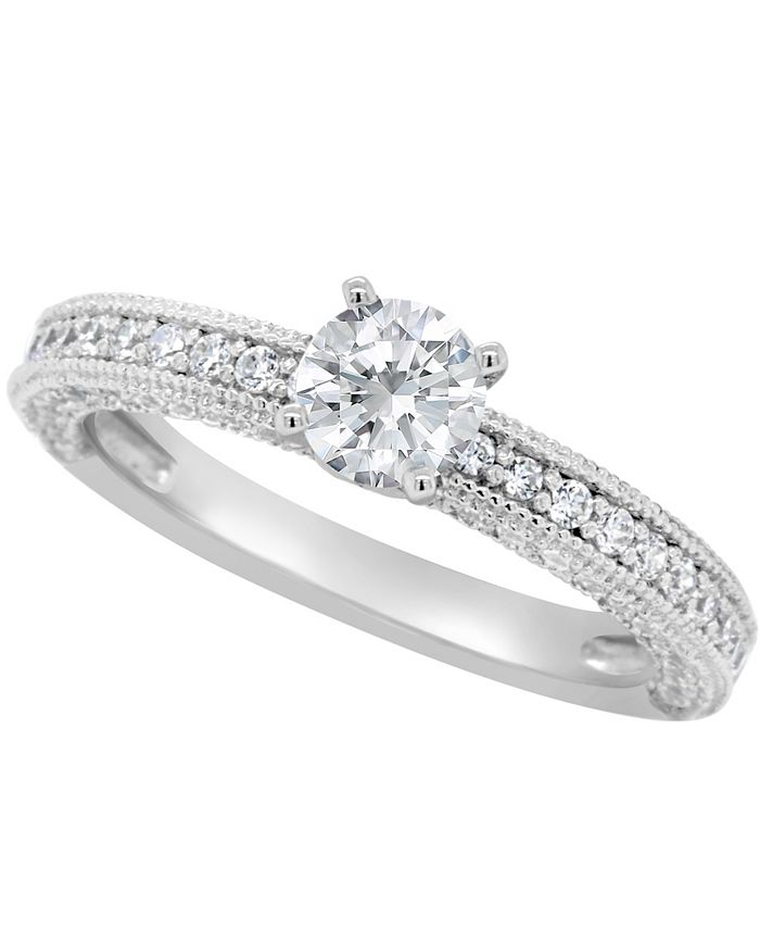 Macy's - Certified Round Diamond Engagement Ring (1 1/5 ct. t.w.) in 14k White Gold, Rose Gold, or Yellow Gold