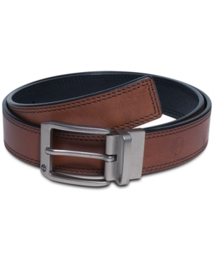Timberland Belts Harness Leather with Double Edge Stitch Belt