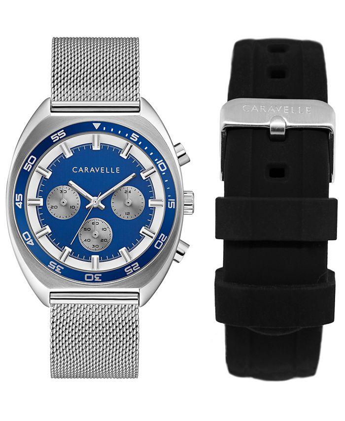 Caravelle - Men's Chronograph Stainless Steel Mesh Bracelet Watch 40mm