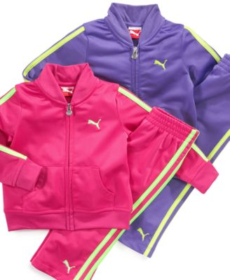 Puma Baby Set Baby Girls Tricot Jacket and Pants