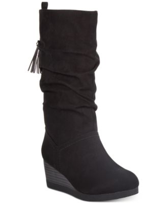 Little and Big Girls Wedge Dress Boots