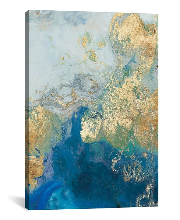 "iCanvas Ocean Splash Ii by Pi Galerie Gallery-Wrapped Canvas Print - 60"" x 40"" x 1.5"""