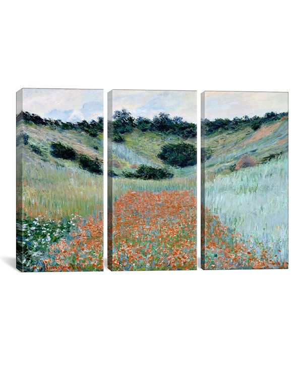 """iCanvas Poppy Field in a Hollow Near Giverny by Claude Monet Gallery-Wrapped Canvas Print - 40"""" x 60"""" x 1.5"""""""