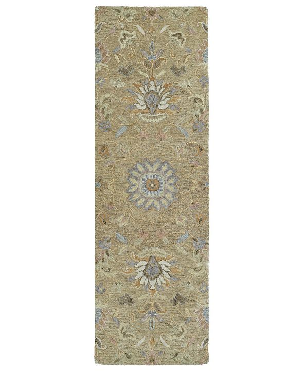 "Kaleen Helena 3207-82 Light Brown 2'6"" x 8' Runner Rug"