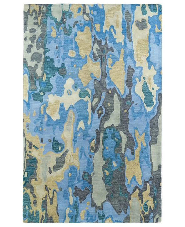 "Kaleen Brushstrokes BRS05-17 Blue 5' x 7'9"" Area Rug"