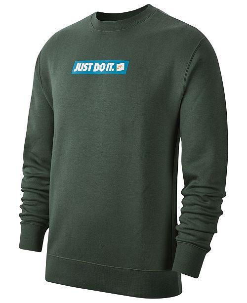 Nike Men's Crew Fleece Just Do It Sweatshirt & Reviews ...
