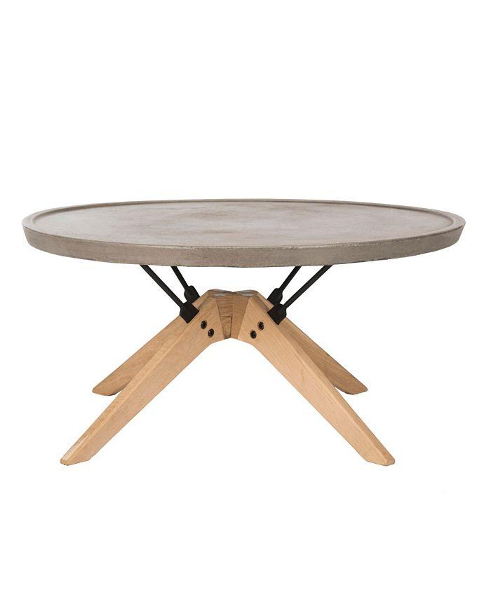 Safavieh - Bryson Round Coffee Table, Quick Ship
