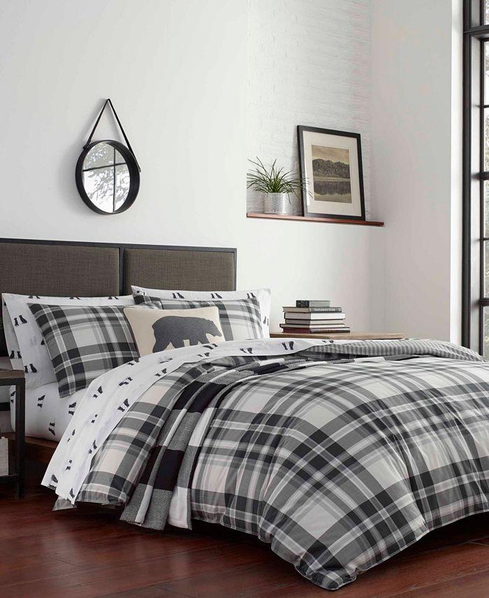 Eddie Bauer - Coal Creek Plaid Comforter Set, Full/Queen
