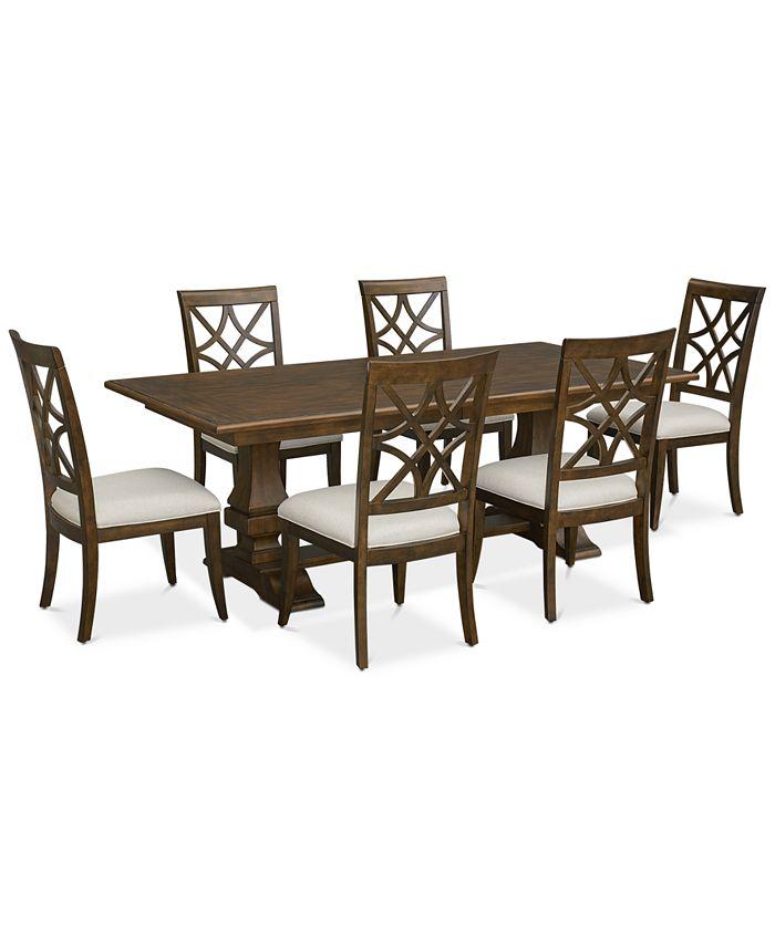Trisha Yearwood Home - Trisha Dining Furniture, 7-Pc. Set (Expandable Table & 6 Side Chairs)
