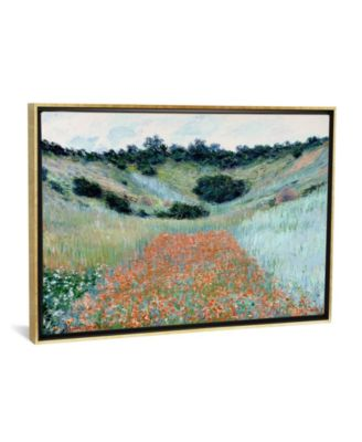 """Poppy Field in a Hollow Near Giverny by Claude Monet Gallery-Wrapped Canvas Print - 18"""" x 26"""" x 0.75"""""""