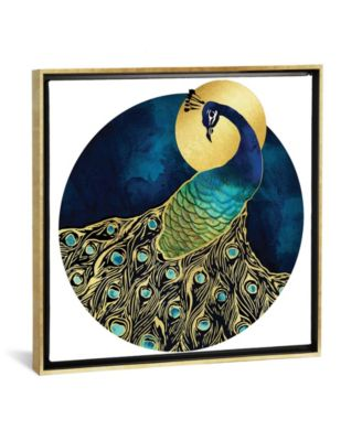 "Golden Peacock by Spacefrog Designs Gallery-Wrapped Canvas Print - 18"" x 18"" x 0.75"""