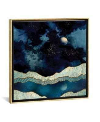 """Indigo Sky by Spacefrog Designs Gallery-Wrapped Canvas Print - 37"""" x 37"""" x 0.75"""""""