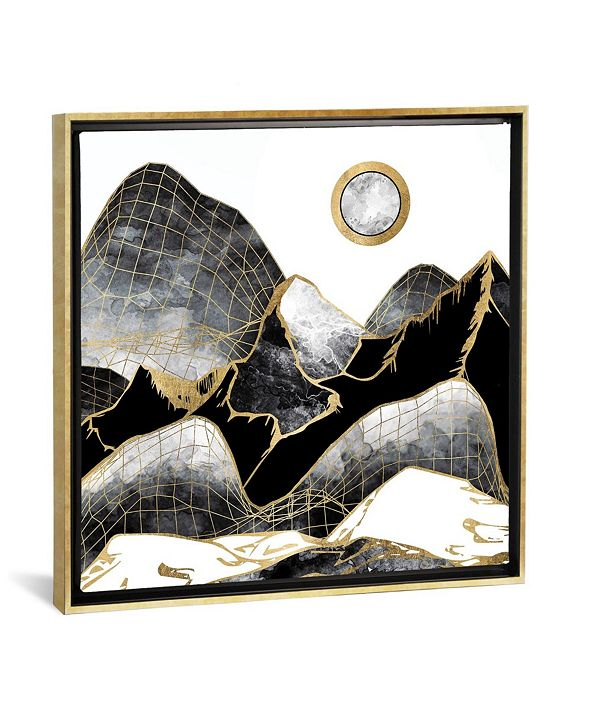"iCanvas Minimal Black and Gold Mountains by Spacefrog Designs Gallery-Wrapped Canvas Print - 26"" x 26"" x 0.75"""