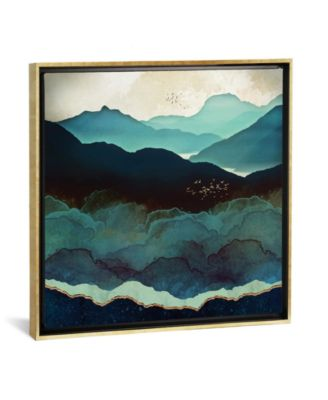 "Indigo Mountains by Spacefrog Designs Gallery-Wrapped Canvas Print - 37"" x 37"" x 0.75"""