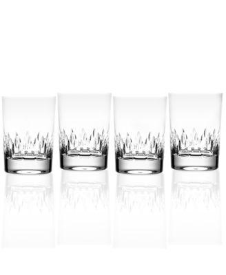 Set of 4 Vera Wang Wedgwood Duchesse Double Old-Fashioned Glasses