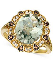 Le Vian® Mint Julep Quartz (3-3/4 ct. t.w.) & Diamond (1/5 ct. t.w.) Ring in 14k Gold