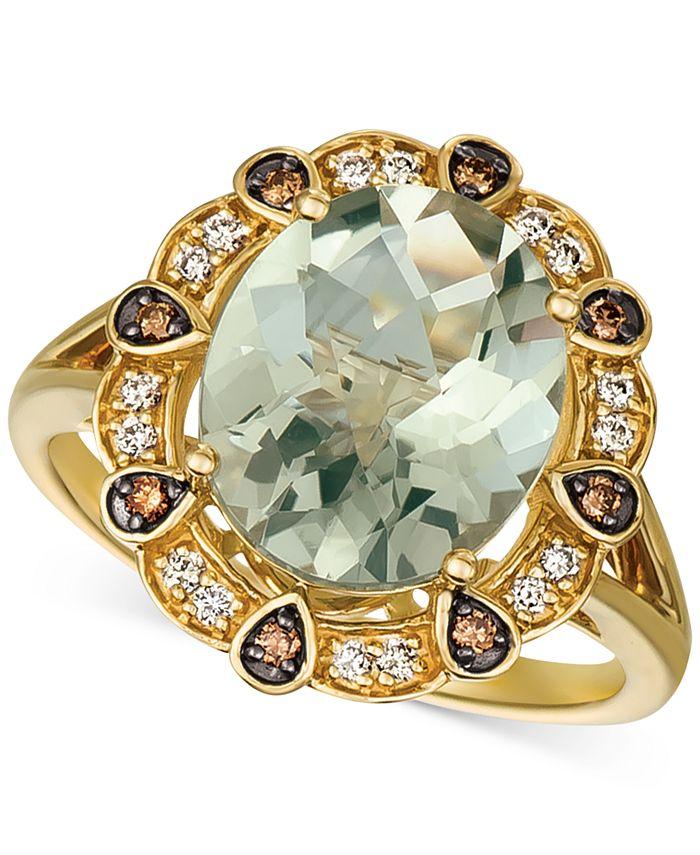 Le Vian - Mint Julep Quartz (3-3/4 ct. t.w.) & Diamond (1/5 ct. t.w.) Ring in 14k Gold