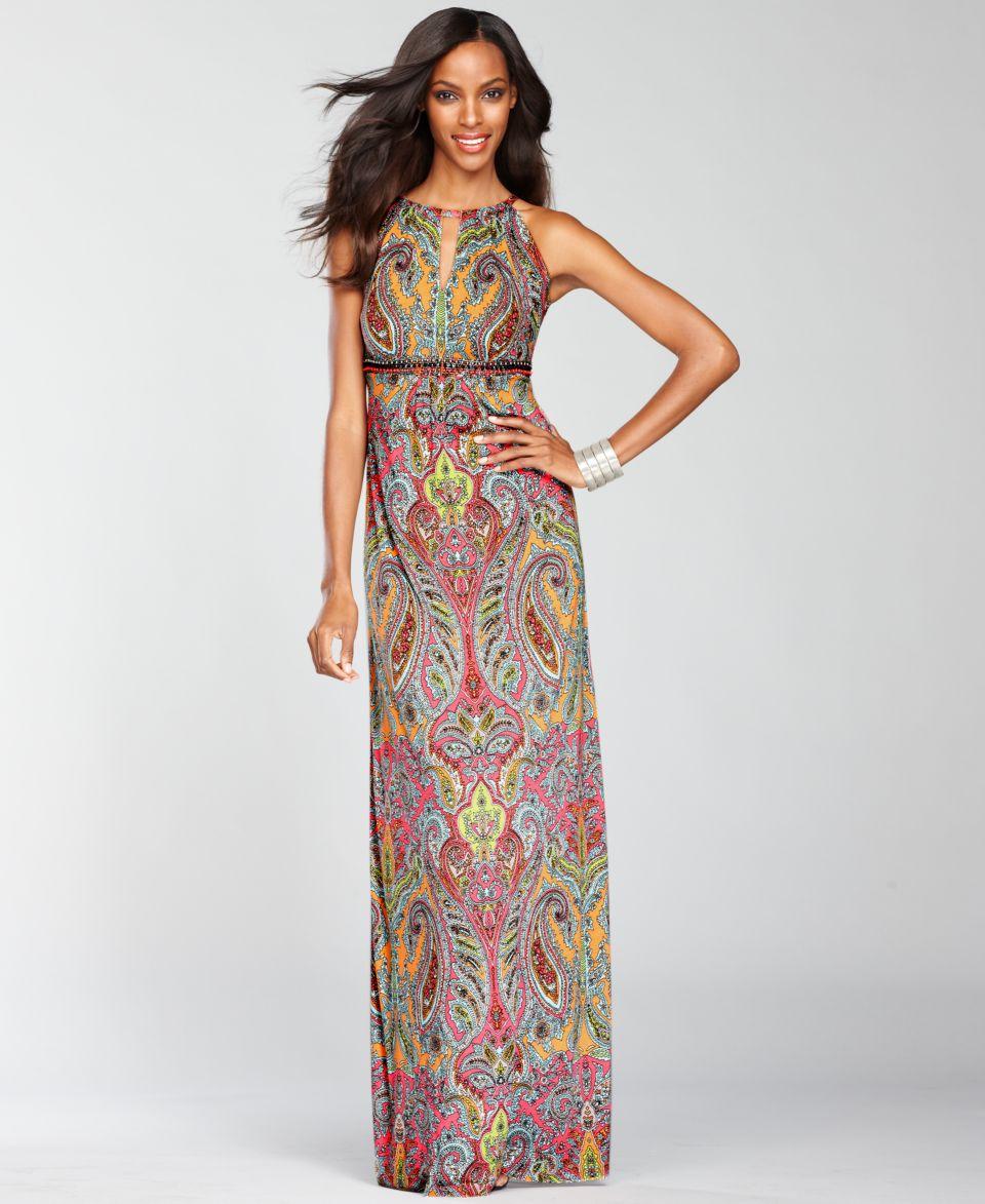 INC International Concepts Dress, Sleeveless Paisley Print Maxi