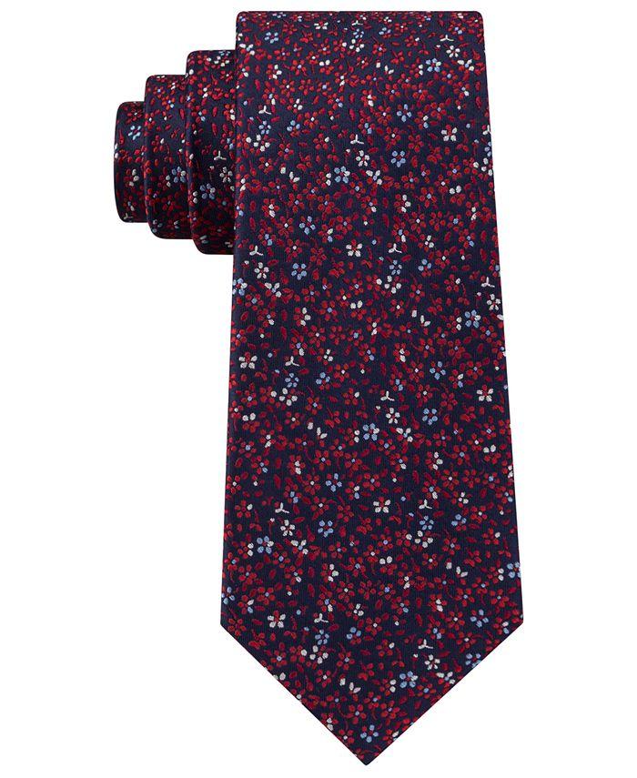 Tommy Hilfiger - Men's Classic Floral Silk Tie