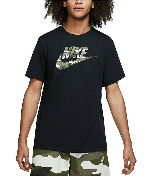 Desventaja Extremo latín  Nike Men's Camo-Logo T-Shirt & Reviews - T-Shirts - Men - Macy's