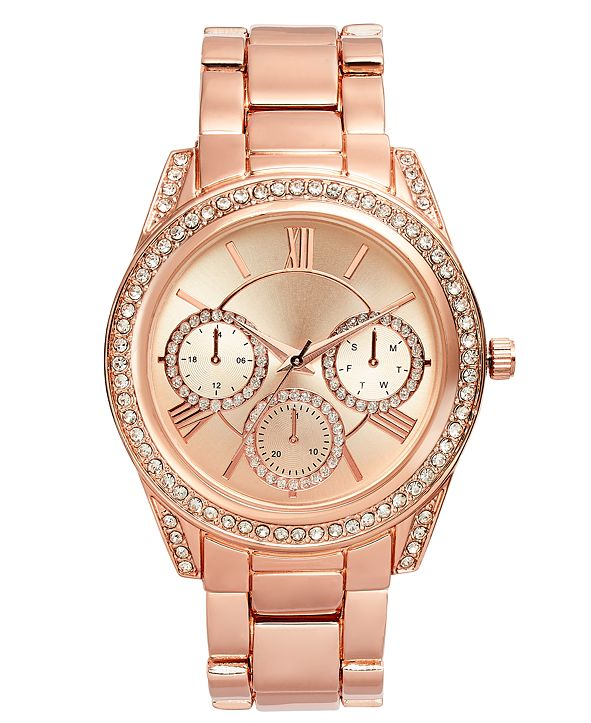 INC International Concepts INC Women's Rose Gold-Tone Bracelet Watch 41mm, Created for Macy's