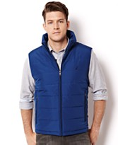Mens Poly Zip Front Vest