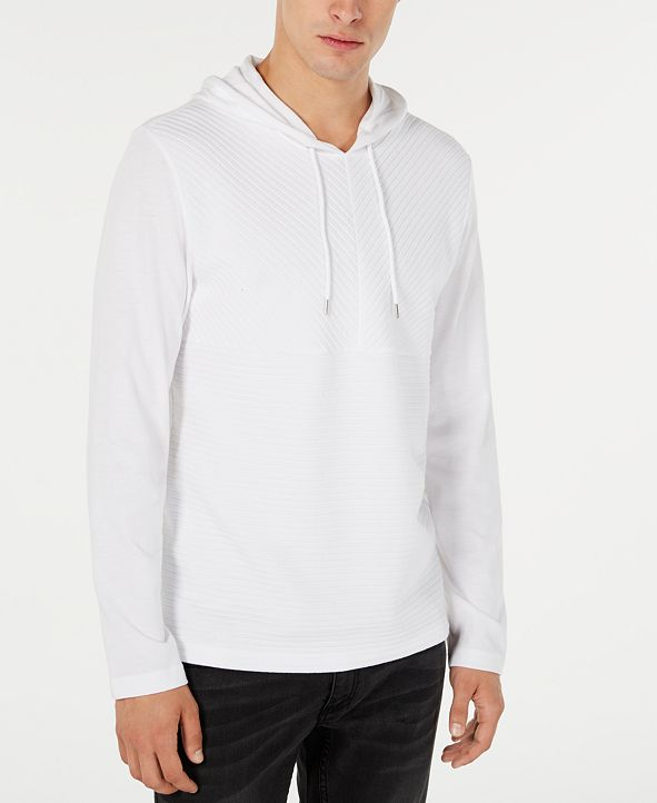 INC International Concepts INC Men's Textured Lightweight Hoodie, Created for Macy's