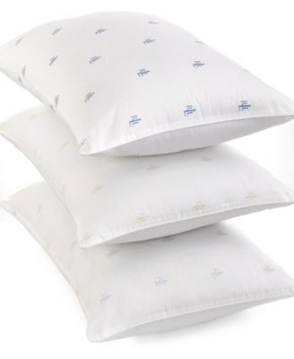 Lauren Ralph Lauren Logo Extra Firm Density Standard/Queen Pillow, Down Alternative