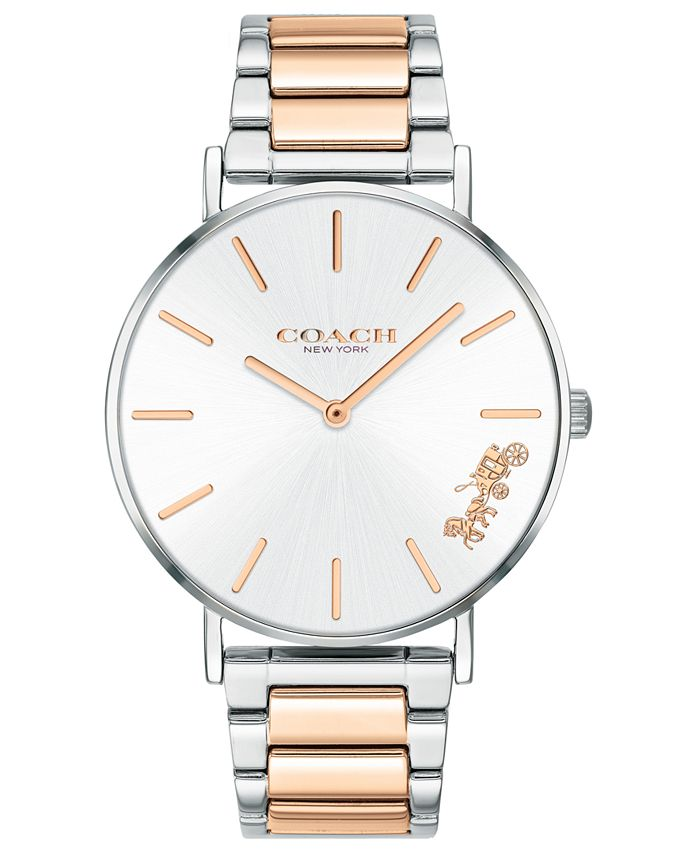 COACH - Women's Perry Two-Tone Stainless Steel Bracelet Watch 36mm