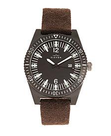 Elevon Men's Jeppesen Genuine Leather Strap Watch 42mm