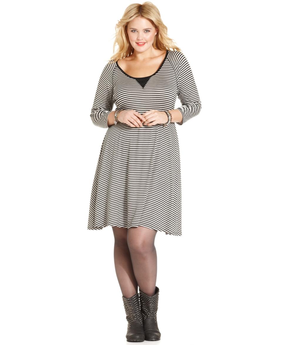 American Rag Plus Size Dress, Long Sleeve Striped