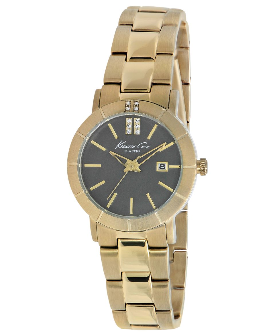 Kenneth Cole New York Watch, Womens Gold Ion Plated Stainless Steel Bracelet 30mm KC4885   Watches   Jewelry & Watches