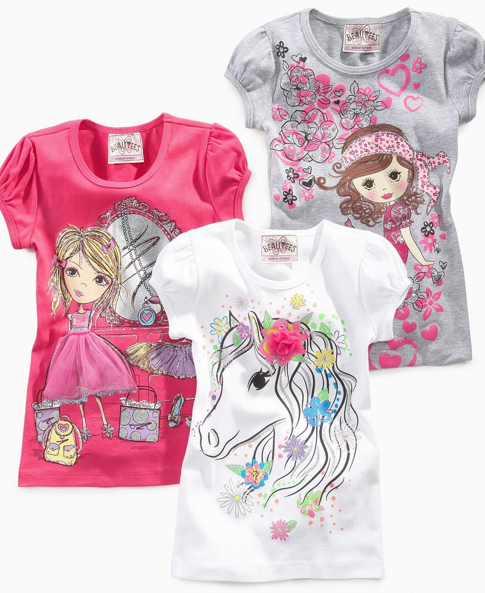 Hello Kitty Kids Shirt, Little Girls Graphic Ruffle Tunic   Kids
