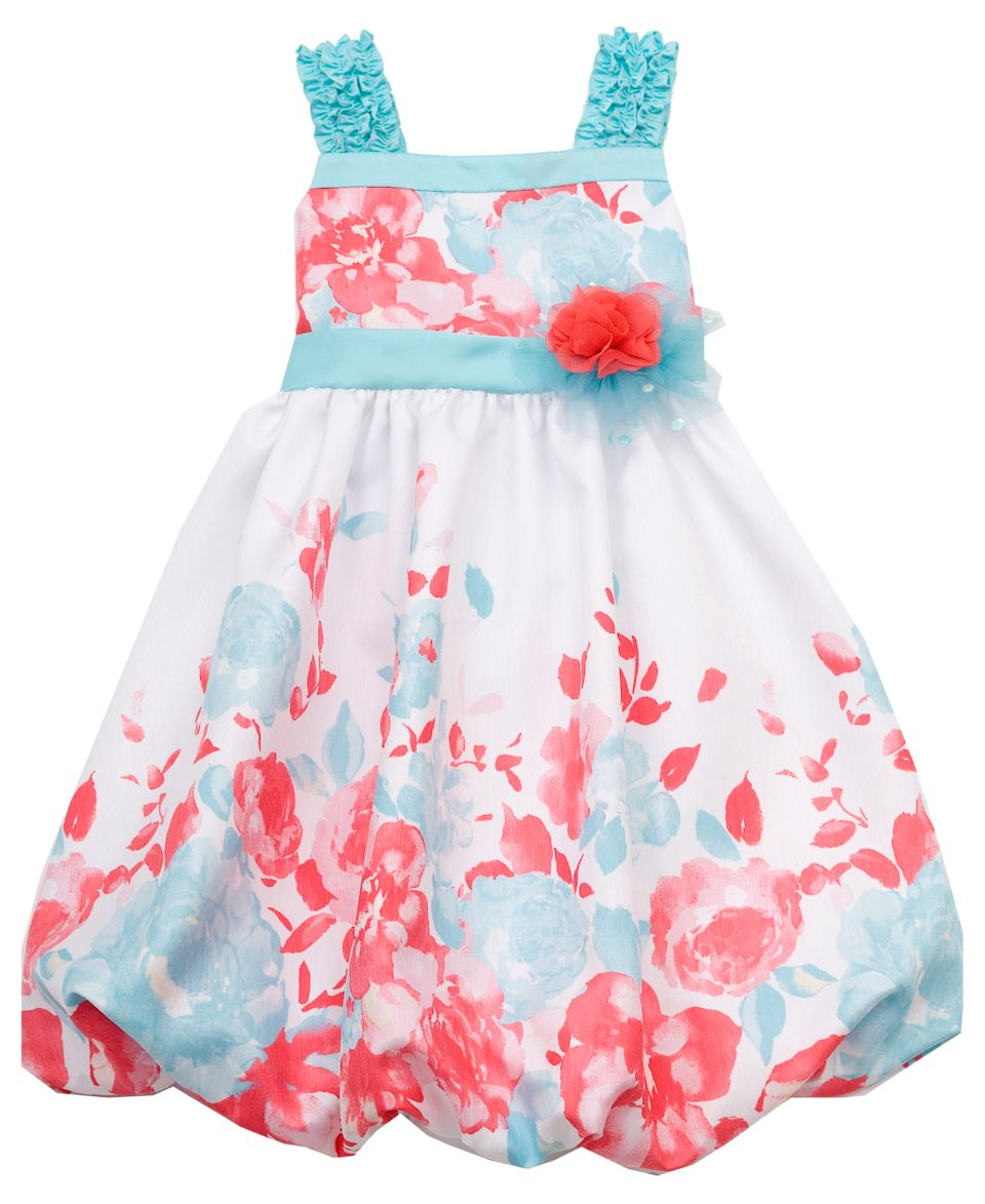 Rare Editions Kids Dress, Little Girls Flower Print Dress   Kids