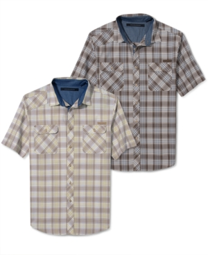Sean John Shirt Big and Tall Tonal Check Shirt