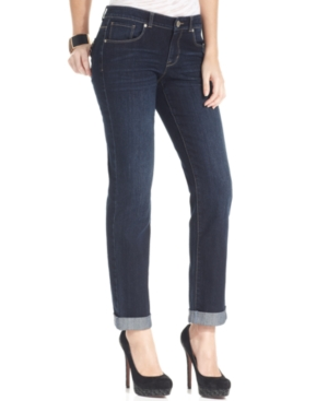 Style & Co. Curvy-Fit Caneel Wash Cuffed Boyfriend Jeans, Only at Macy's