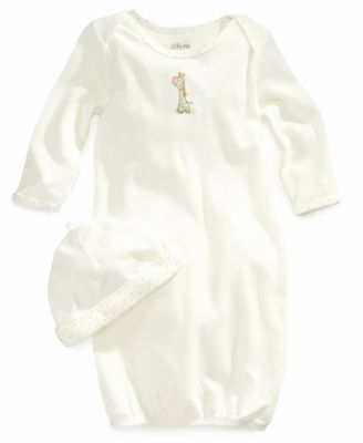 Baby Boys & Girls Giraffe Gown and Beanie Set
