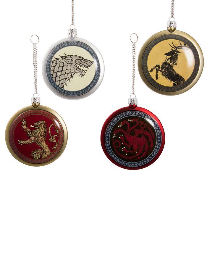 Kurt Adler 80mm Game Of Thrones Disc Ornament 4 Piece Set Reviews Home Macy S