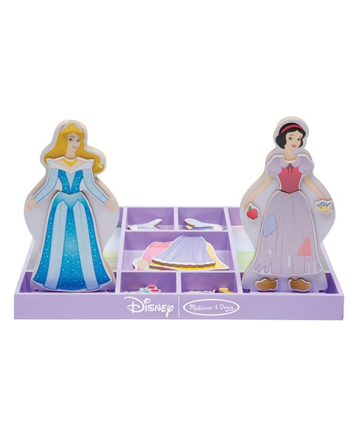 Melissa and Doug - Sleeping Beauty  Snow White Wooden Magnetic Dress-Up