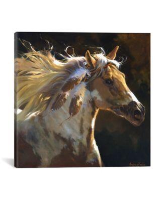 Spirit Horse by Carolyne Hawley Wrapped Canvas Print - 26