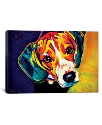 Beagle Bailey by Dawgart Wrapped Canvas Print - 18
