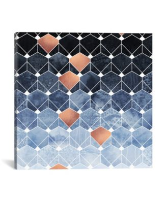 Copper Diamonds by Elisabeth Fredriksson Wrapped Canvas Print - 18