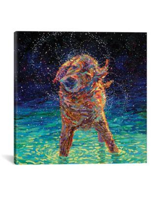 Moonlight Swim by Iris Scott Wrapped Canvas Print - 26