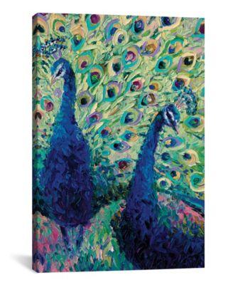 "Gemini Peacock by Iris Scott Wrapped Canvas Print - 40"" x 26"""