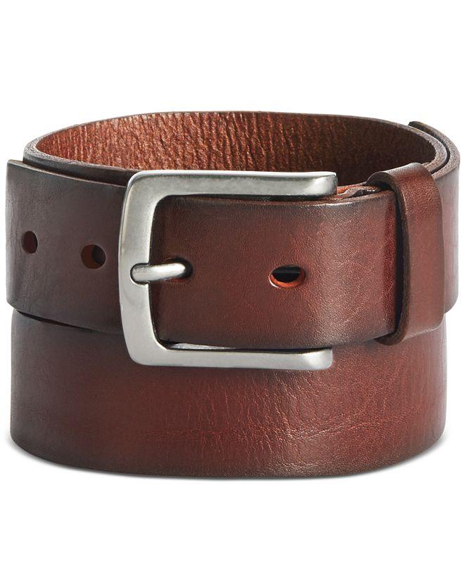 Perry Ellis Portfolio Perry Ellis Men's Better Brown Leather Belt
