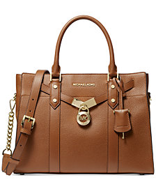 Michael Michael Kors Nouveau Hamilton Large Leather Satchel