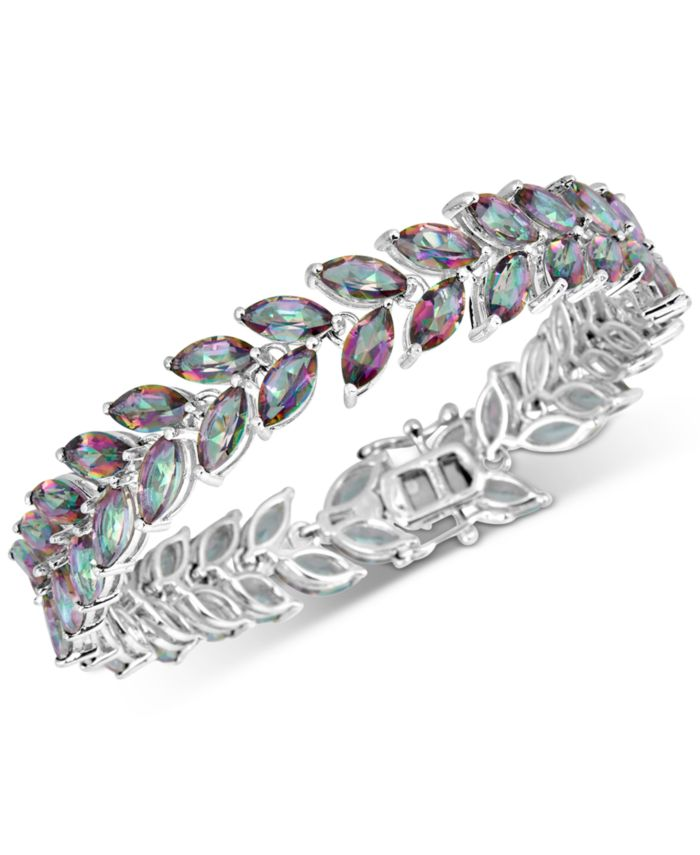 Macy's Mystic Quartz Marquise Link Bracelet (20 ct. t.w.) in Sterling Silver & Reviews - Bracelets - Jewelry & Watches - Macy's